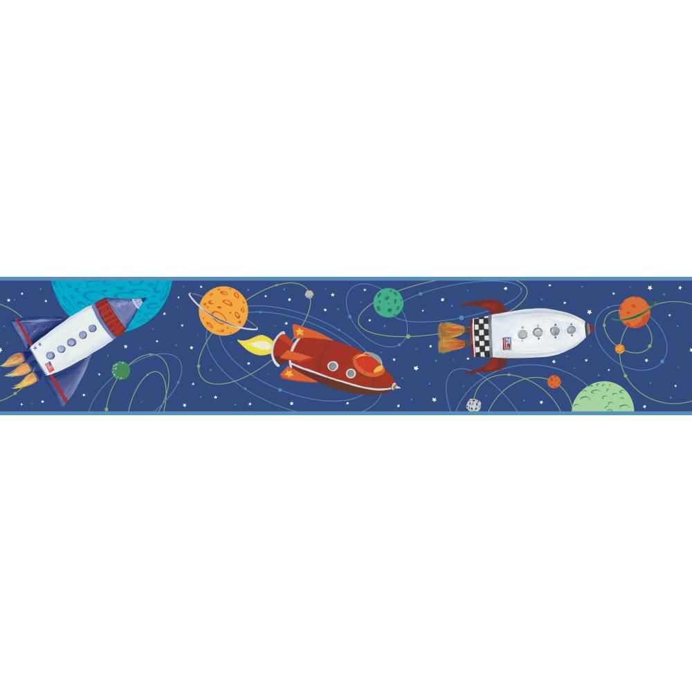 ZB3228BD Boys Will Be Boys Space Border Outer space