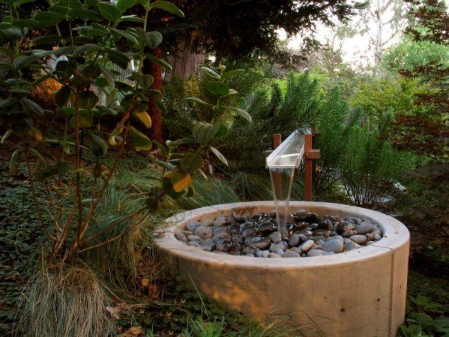 Wasserspiele-Garten-Brunnen-selber-machen-Beton-Edelstahl | garten ...