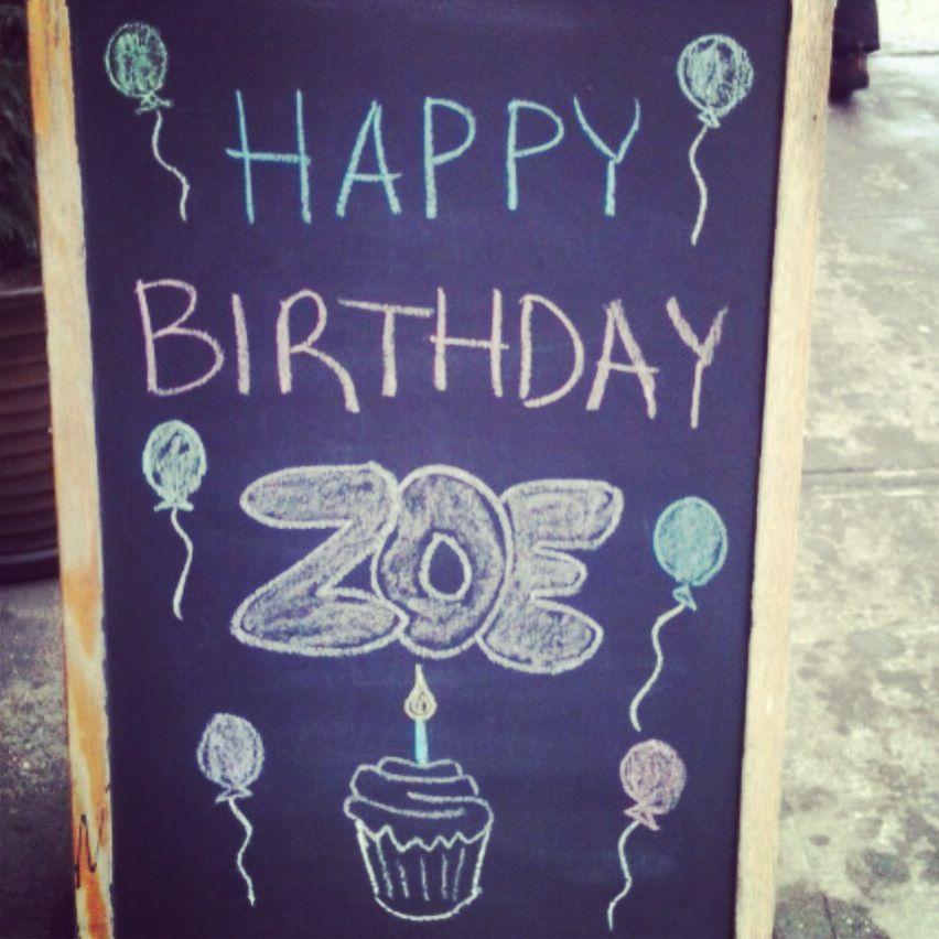 Happy Birthday, Chalkboard Quote Art