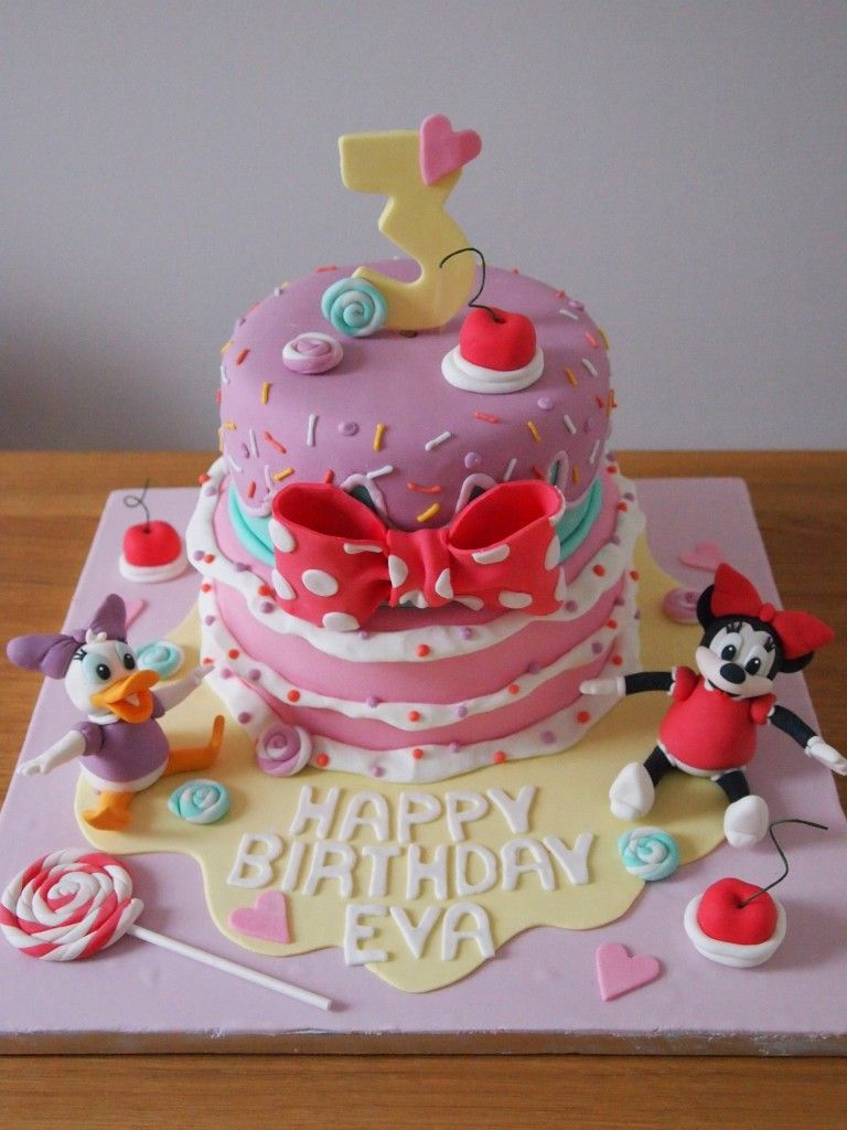 Cool Minnie Daisy Birthday Cake Disney Birthday Minnie Mouse Daisy Personalised Birthday Cards Vishlily Jamesorg
