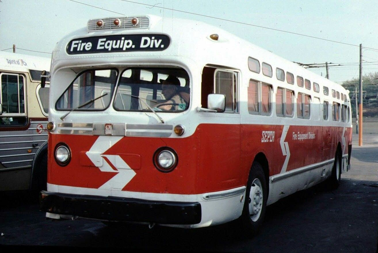 Septa Gmc Old Look With Images Bus Coach Fire Trucks Bus
