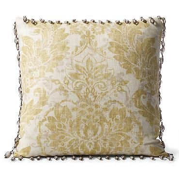 Capara Beaded Trim Decorative Pillow Frontgate Pillows Decorative Pillows Plush Throw Pillows