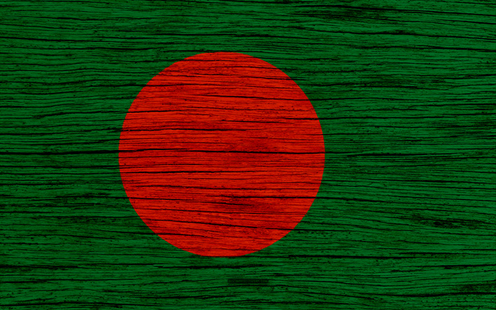 Download Wallpapers Flag Of Bangladesh 4k Asia Wooden Texture