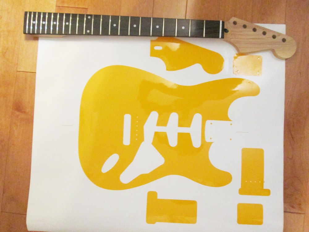 1960 Strat Guitar Routing Template For Guitar Building Fender