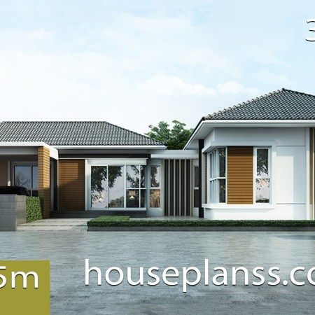 House Design Plan 4 5x13m With 3 Bedrooms Home Ideas Small House Design Plans Small House Design House Design