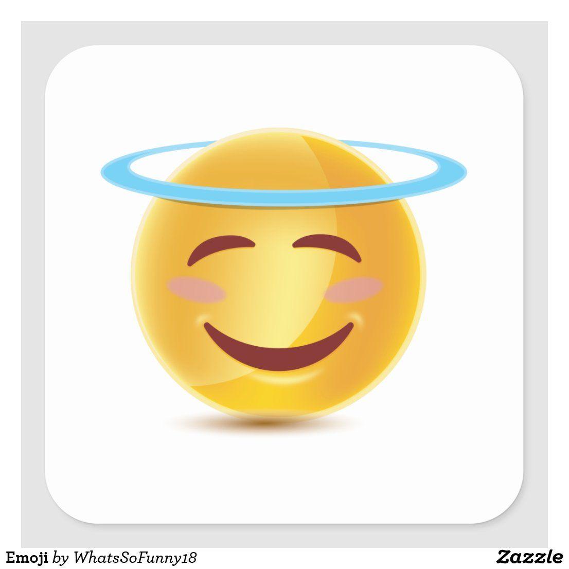 Emoji Square Sticker Zazzle Com In 2020 Create Custom Stickers Emoji Custom Stickers