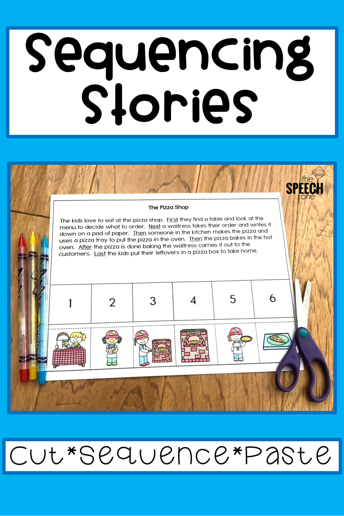 Six Step Sequencing Stories Set 2 Story Retell Articulation Therapy Activities Speech Therapy Materials Speech And Language