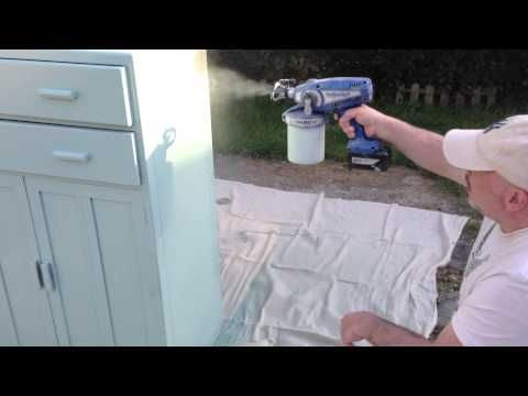 Graco Spraying Shabby Chic Cupboard Youtube Shabby Chic Furniture Painting Shabby Chic Decor Shabby Chic Painting