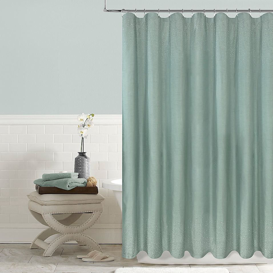Twilight 72 X 72 Shower Curtain In Aqua Teal Shower Curtains