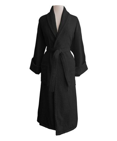 Another great find on #zulily! Black San Sebastian Egyptian Cotton Shawl Terry Robe #zulilyfinds