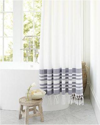 Ballard Designs Turkish Shower Curtain Indigo 320 400 Striped