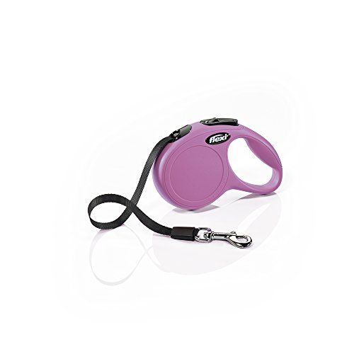 Extra Small 10 ft FLEXI New Classic Retractable Dog Leash Tape Pink