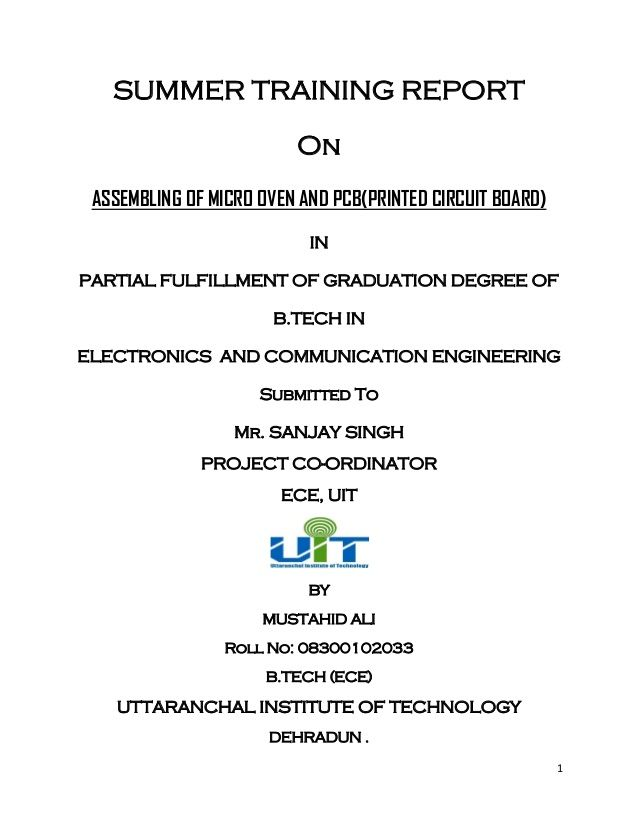 Lg Electronics Vendor Summer Internship Report By Mustahid Ali Via