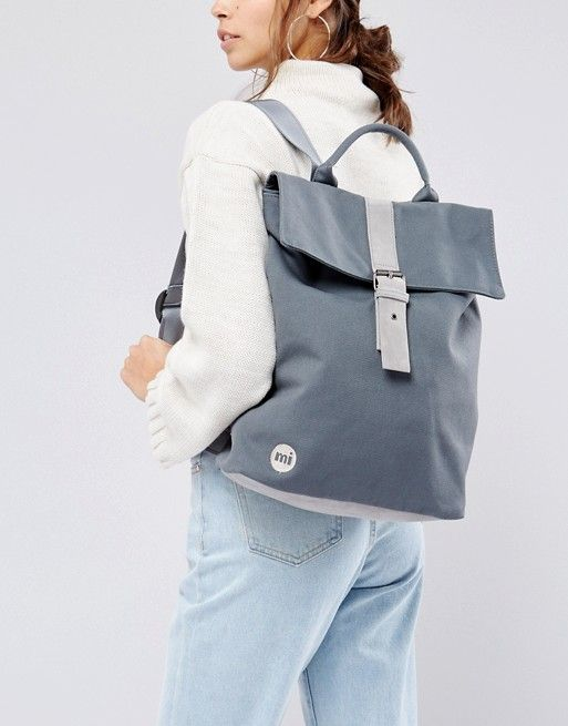 a2e85d42d Mi-Pac Canvas Fold Top Backpack in Charcoal   WHISHLIST   Top ...
