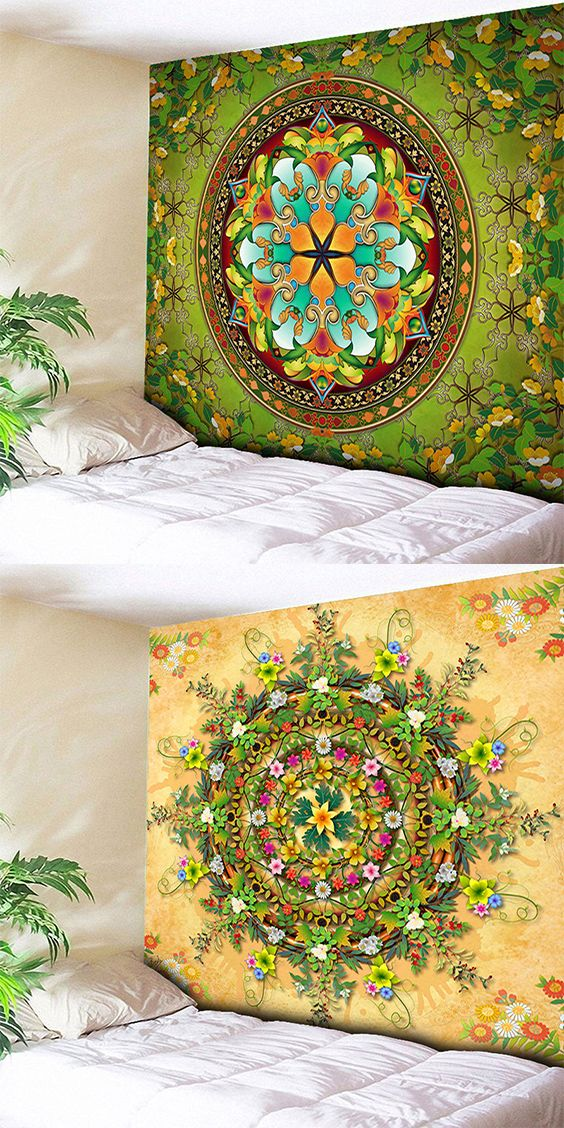 Flower Wall Hanging Mandala Print Home Tapestry | Pinterest ...