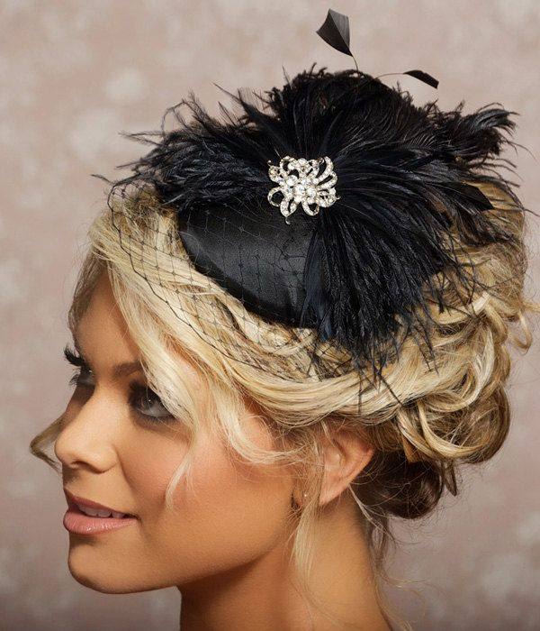 Black Birdcage Veil Fascinator Cocktail Hat Black ...