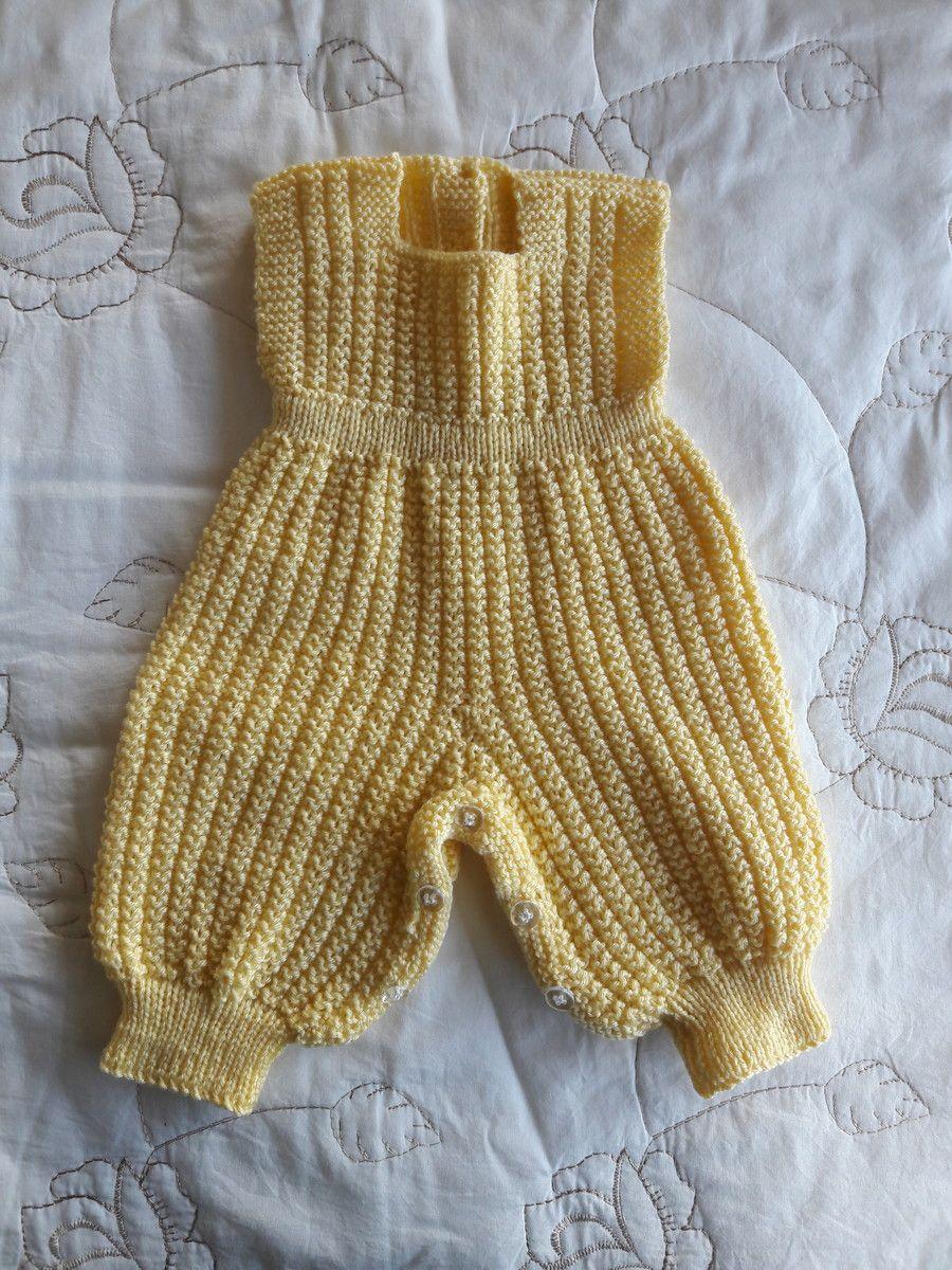 1810b116c4 Conjunto em tricô feito a mão amarelo no Elo7