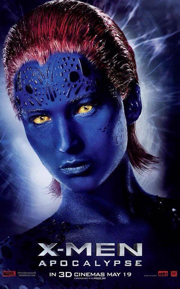 X Men Apocalypse Jennifer Lawrence As Raven Mystique Female Villains Apocalypse Movies Xmen Apocalypse