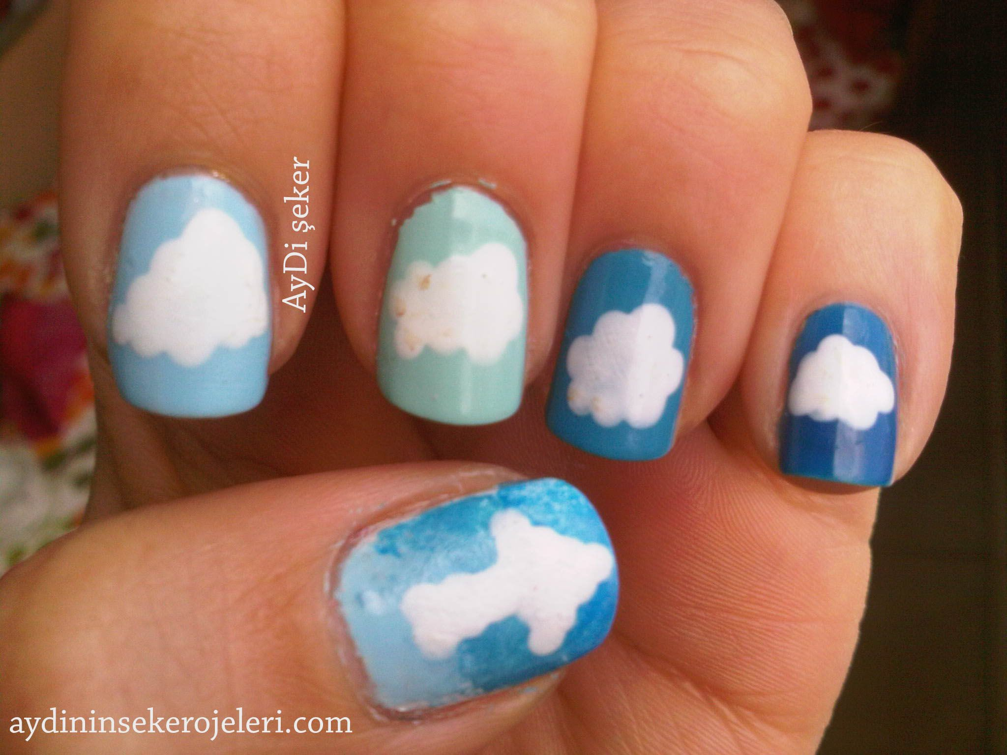 31 day nail art challenge day 22 Inspired by a Song: Jogger - Falling (Up Into the Sky)