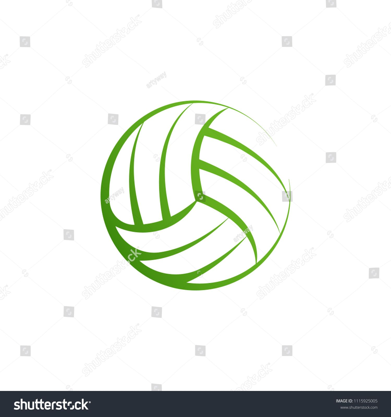 Volleyball Logo Element Vector Volley Ball Icon Isolated Sport Sign Template Summer Beach Ball Vector Illustration On Whi Sign Templates Sports Signs Logos