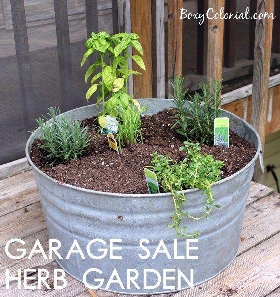 Garage Sale Herb Garden + General Garden Updates - #kleinekräutergärten