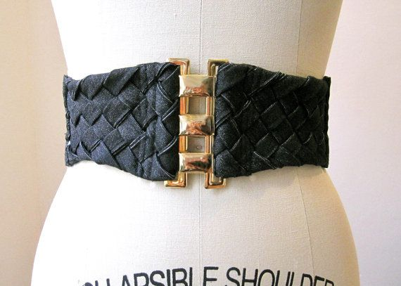 Black Basquet denim waist belt  Spring 2012 by SimonesRoseBoutique
