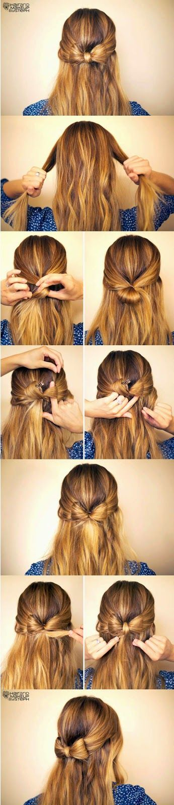5 Cute Easy Hairstyles Tutorial How To Hairstyles And Haircuts Hair Styles Long Hair Styles Hair Tutorial