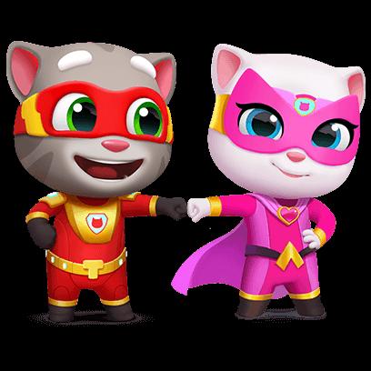 Acenda O Poder Do Laser Talking Tom Hero Dash Atualizacao Do Jogo Gatinha Angela Aniversario Do Gato Jogos