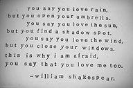 W. Shakespeare... Jetzt hat sie den ganzen Text vorgelesen und dachte, sie singt einen Song... Es klingt wie vorgelesen! 😉