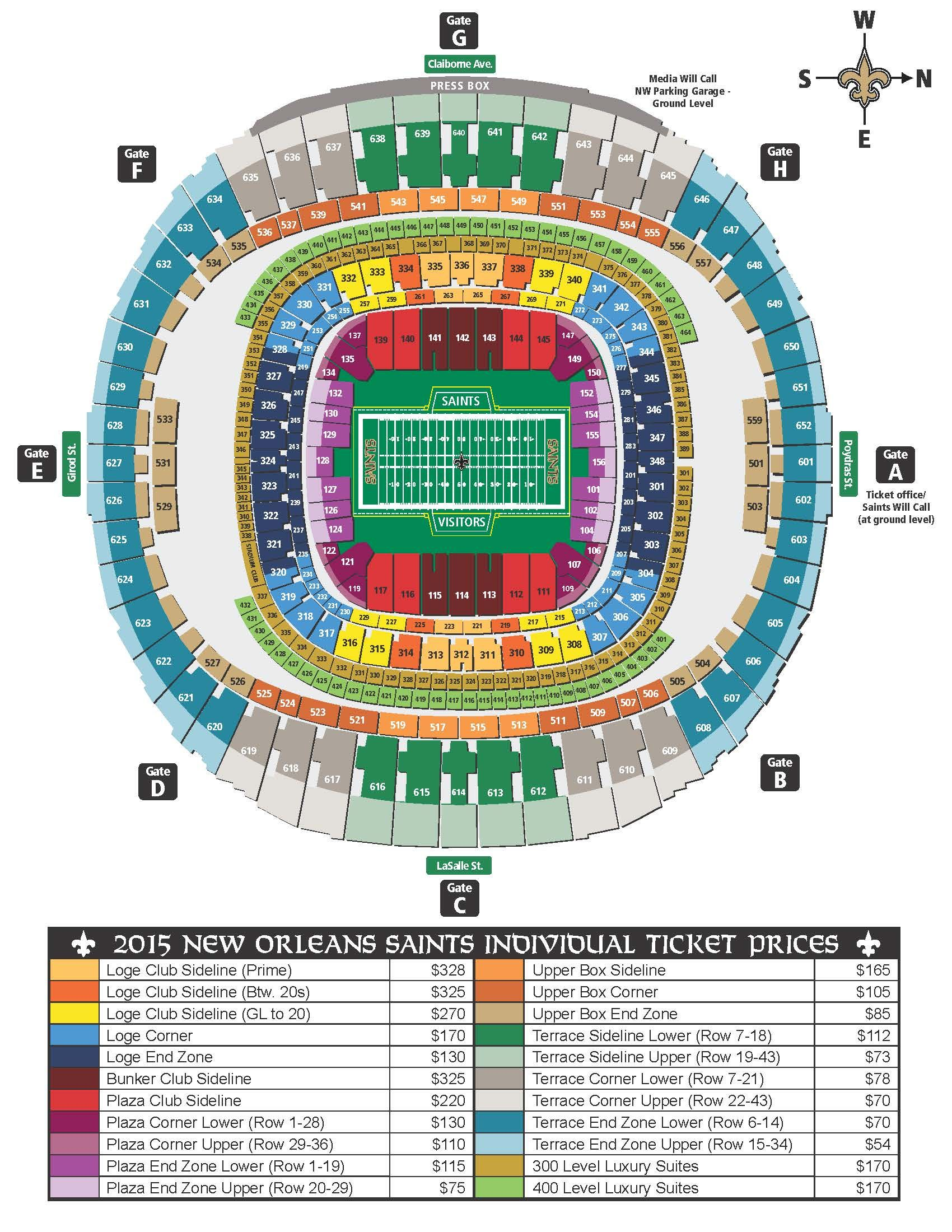 New Orleans Saints Louisiana Superdome New Orleans