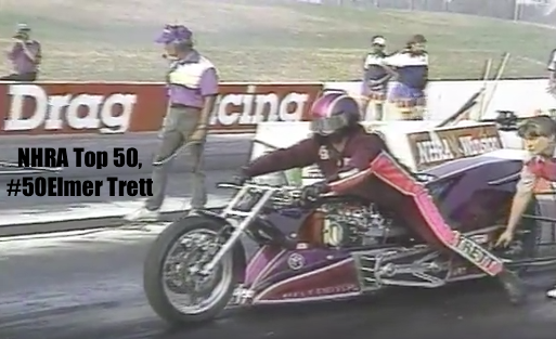 Nhra 50 Elmer Trett Top Fuel Record Breaker Drag Bike Muscle