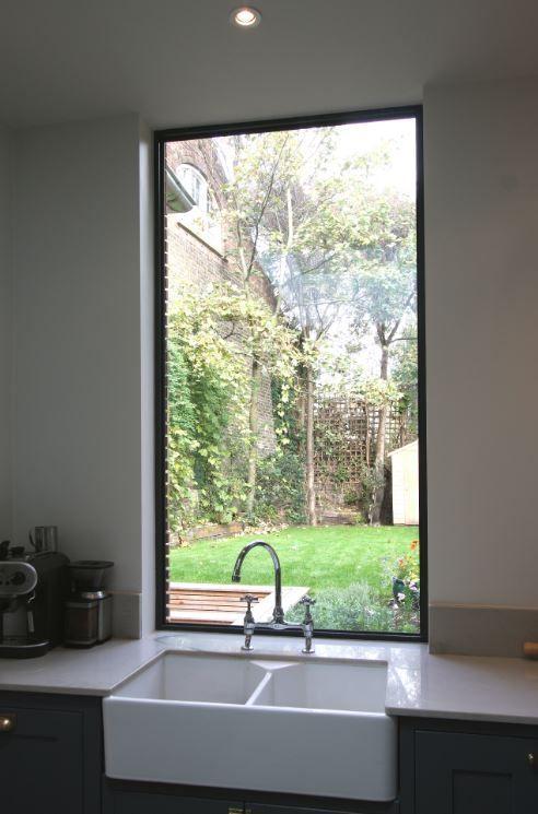 Fixed aluminium casement window over the kitchen sink to ...