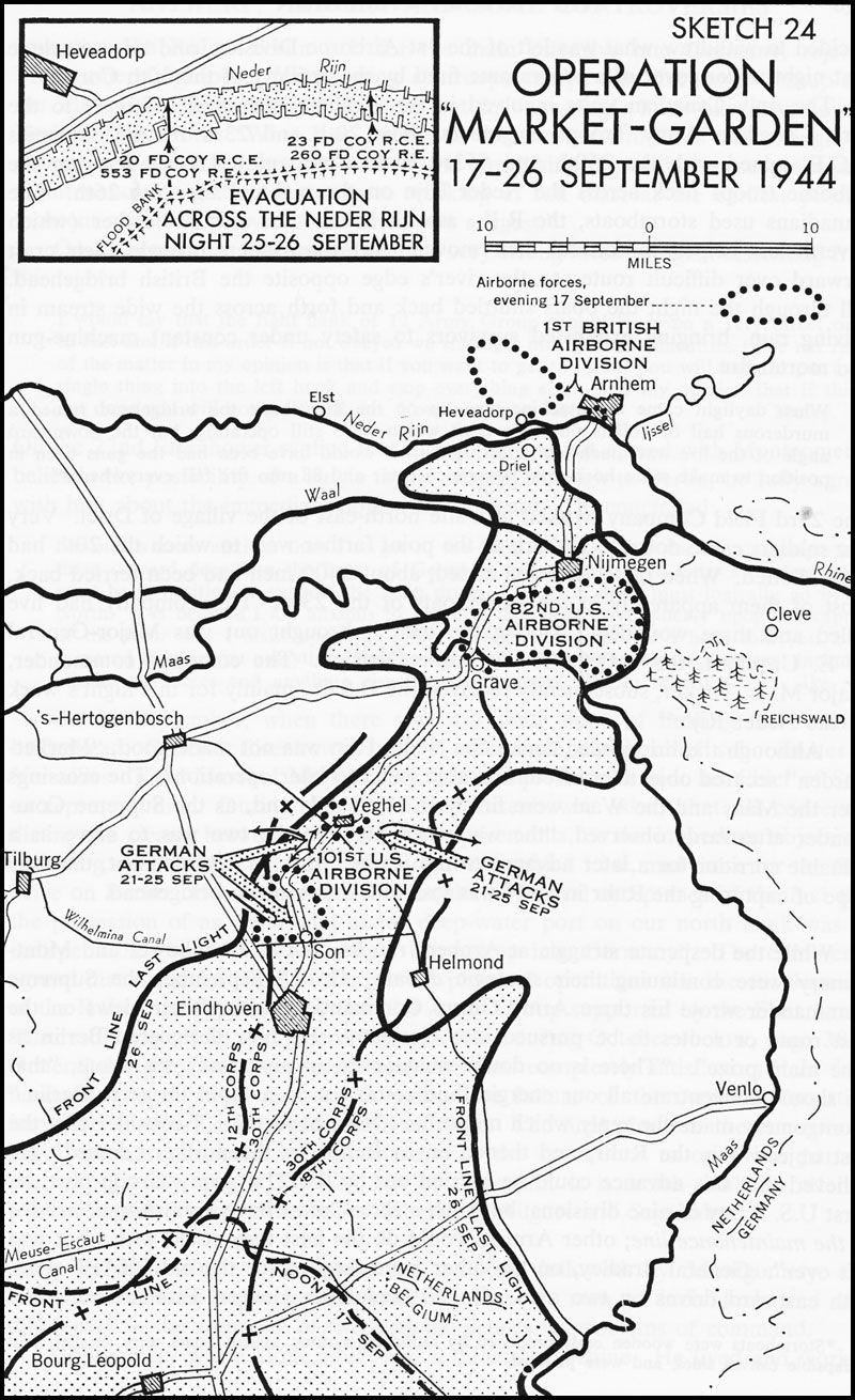 Operation Market Garden 1944. The Allies were unaware of
