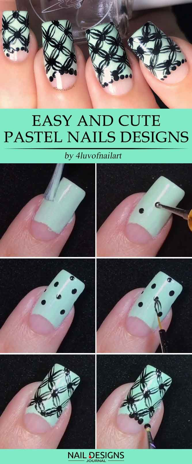 17 Super Easy Nail Designs Diy Tutorials Pinterest Diy Tutorial