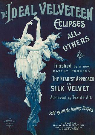vintage australian velveteen advertising fabric posters art prints