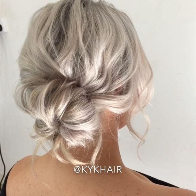 How To Style Short Hair By Kykhair Hudabeauty Pulled Back Low Bun Bun Hairstyles Short Hair Bun Messy Bun Hairstyles