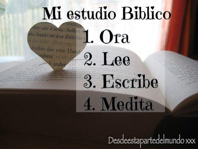 Mi método de estudio bíblico Me ha funcionado genial este método! Espero te sirva , abrazos G.