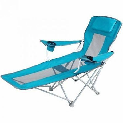 Folding Reclining Chaise Lounge Camping Chair
