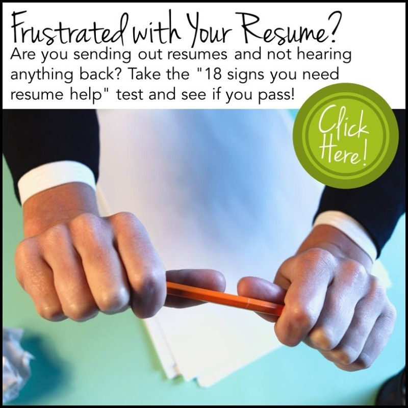 18 Signs You Need Help With Your Resume.