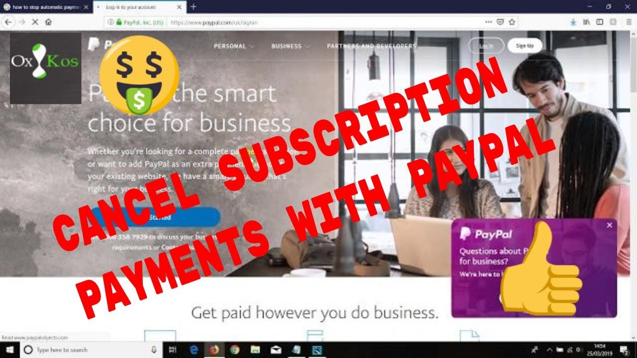 Paypal Tutorial Here S How To Cancel A Subscription Or Recurring Payme Video Marketing Internet Marketing Tutorial