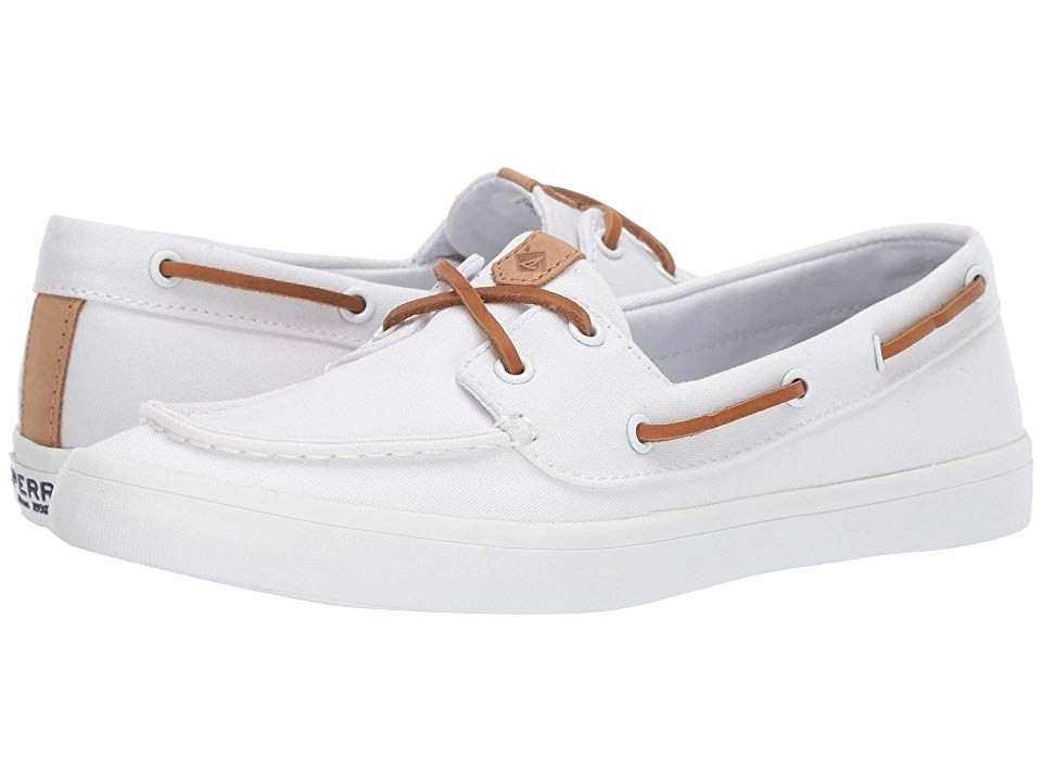 sperry women's canvas boat shoes