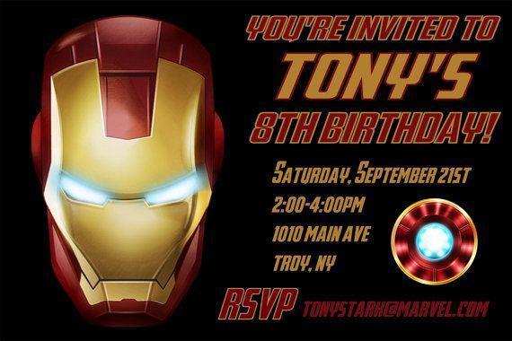 Iron man birthday party invitation printable 4x6 or 5x7 iron man iron man birthday party invitation printable 4x6 or 5x7 filmwisefo