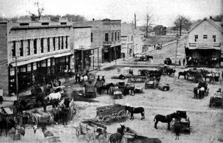 Kennett Missouri Square 1894 My Great Grandfather Charlie