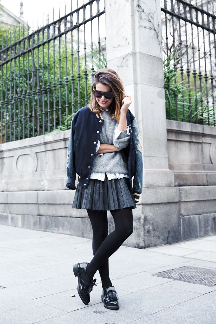 These 5 Looks Prove A Varsity Jacket Is A Must-Have For Fall (The Edit) #varsityjacketoutfit