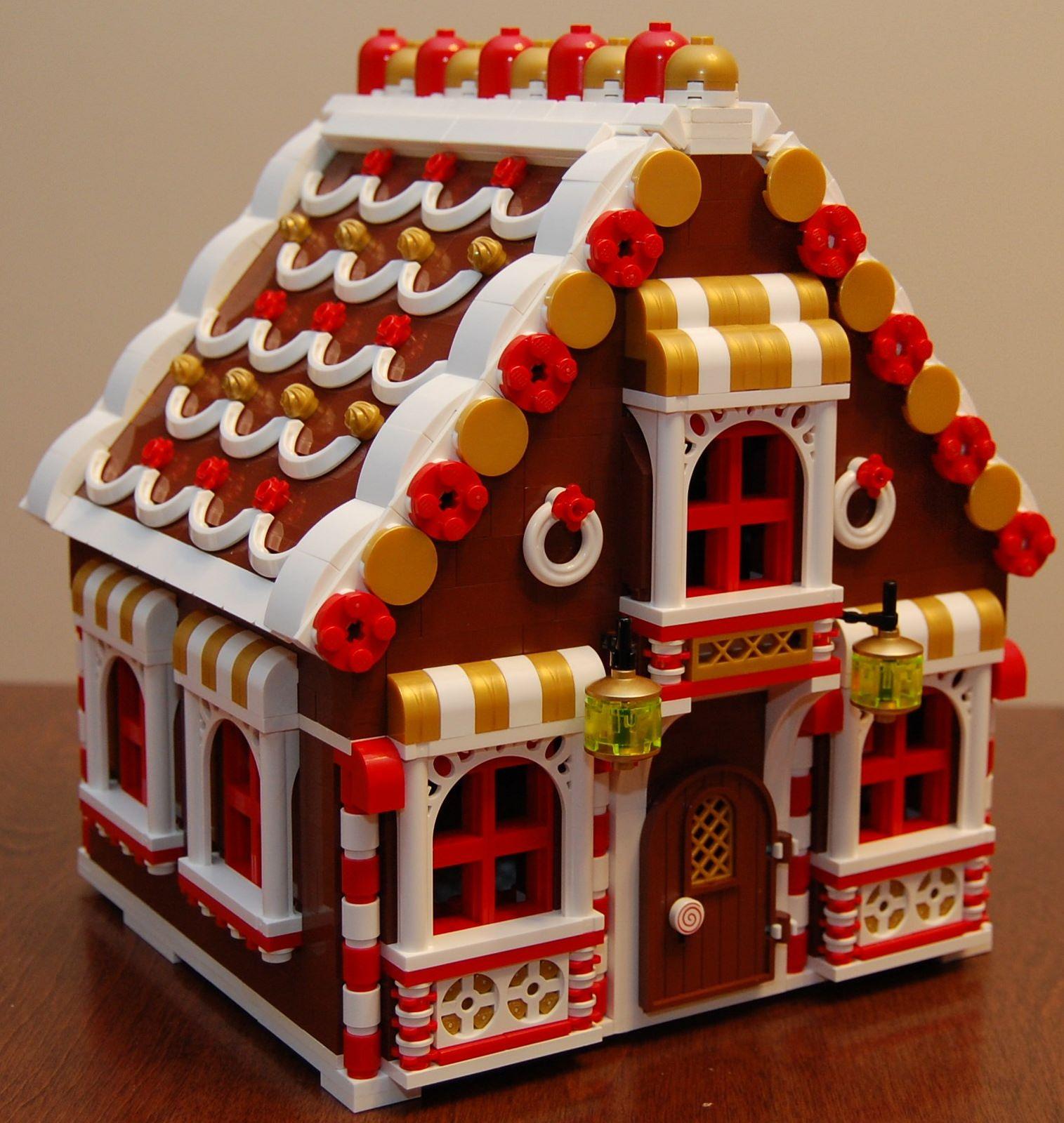 Gingerbread House-Village de Noël Custom Design-Made with real LEGO