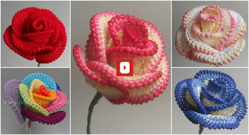 This Basic Rose Pattern Is A Perfect Introduction To Crocheted