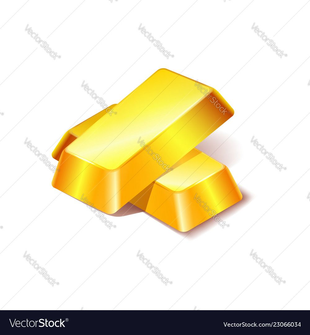 Two Gold Bars Icon Isolated On White Background Vector Image Ad Icon Isolated Gold Bars Ad Vector Images Vector Free Vector