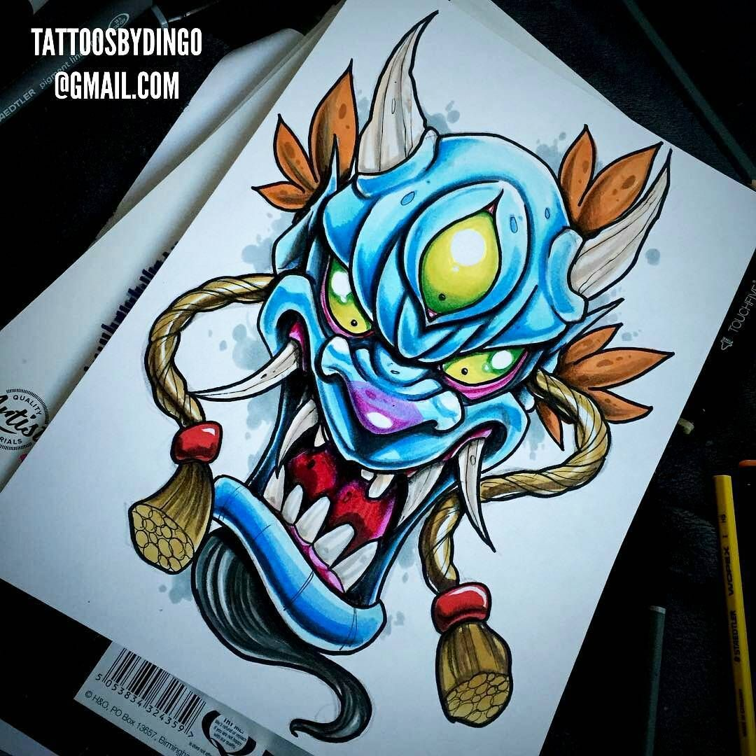 new school Tattoo sketches, Demon tattoo