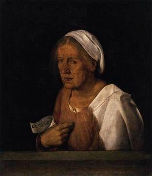 An Old Woman , ca. 1508 (Giorgione) (1477-1510) Gallerie dell'Accademia, Venice
