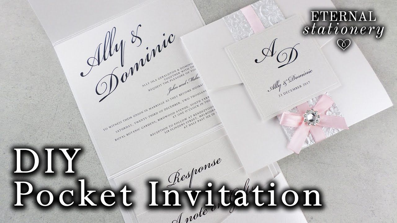 How To Make A Belly Band Pocket Invitation Diy Wedding Invitations Making Wedding Invitations Wedding Invitations Diy Handmade Wedding Invitations